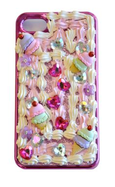 Decorated phone case with Dress It Up Buttons, We LOVE Decoden! www.dressitup.com