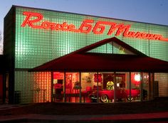The Oklahoma Route 66 Museum in Clinton showcases the history of the Mother Road through each decade.