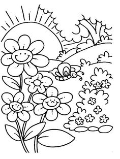 spring coloring pages and crafts