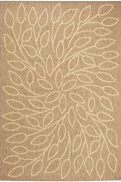 The Home Decorators Collection Persimmon Cocoa 8 ft. 6 in. x 13 ft. Area Rug comes with durable derclon synthetic fibers. Woodsy Decor, Nursery Rugs, Outdoor Area Rugs, Indoor Outdoor, Grey Rugs, Leaf Design, Rugs In Living Room, Rug Making, Tapestry