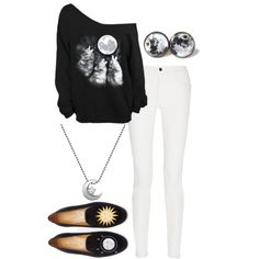 To The Moon And Back by smilelikeyoucan on Polyvore featuring Proenza Schouler, Stubbs & Wootton and Alex Woo