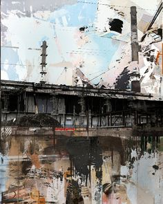 "the series Urban Landscapes Painting Saatchi Online Artist: Serj Fedulov; Mixed Media, Painting ""From the series Urban Landscapes""Saatchi Online Artist: Serj Fedulov; Mixed Media, Painting ""From the series Urban Landscapes"" Landscape Drawings, Cool Landscapes, Beautiful Landscapes, Mixed Media Photography, Landscape Photography, Art Photography, Urban Decay Photography, Photography Couples, Urban Landscape"