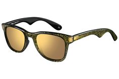 awesome carrera sunglasses <3 black with gold glitter