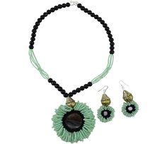Jeko Moti Handmade Necklace for Chaniya Choli #navratri2015 #chaniyacholi #handmade fashionvalley.in