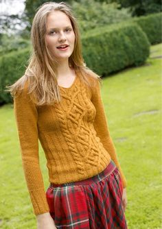 Cabled pullover, Rebecca Magazine, Number 52