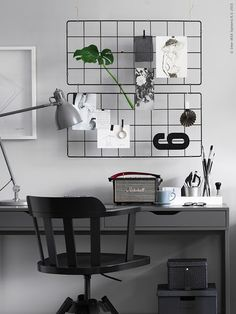 this weekend I was reallyattractedbythesestunning andstylish workspaces seenat Livet Hemmajust love the creative facelift the stylists gave to these two home offices! The first space in peaceful