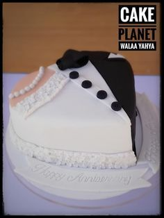 anniversary cake by Walaa yehya - http://cakesdecor.com/cakes/292216-anniversary-cake