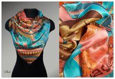 платок, шейный платок, платок батик, распродажа