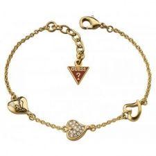 Guess Triple Heart Bracelet UBB71333 Heart Bracelet, Bangle Bracelets, Bangles, Fiorelli, Gold Necklace, Jewels, Diamond, Bracelets, Bracelets