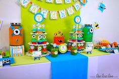 Little+Monster+Birthday+Party++Package+Personalized+by+leelaaloo,+$29.00