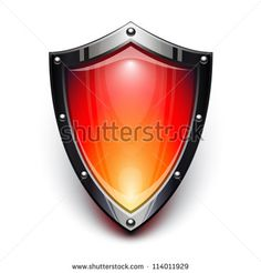 Red security shield