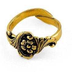 "Ring ""Rokokko"" til Løkenbunaden Belt, Bracelets, Rings, Leather, Accessories, Collection, Jewelry, Fashion, Belts"