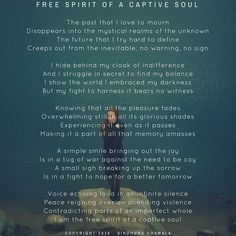 Free Spirit of a Captive Soul #Poem #Poetry #Self