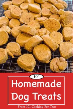 Healthier Homemade Dog Treats from 101 Cooking for Two Dog Cookie Recipes, Homemade Dog Cookies, Homemade Dog Food, Dog Treat Recipes, Healthy Dog Treats, Dog Food Recipes, Doggie Treats, Healthy Munchies, Dog Biscuit Recipes