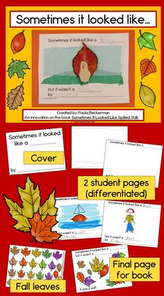 What better way to celebrate the changing of the seasons than by making a class book, illustrated with beautiful fall leaves? This is a fun way to inspire reading and writing in your preschool or kindergarten kiddos! TpT $