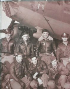 B-17 crew. 8th Air Force, 447th BG 710th BS. My papaw, Clayton Harold Surber, bottom row, second from left.