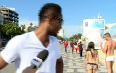 Bikini wearing babe distracts Mikel in Brazil - http://theeagleonline.com.ng/news/bikini-wearing-babe-distracts-mikel-in-brazil/