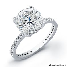 white gold and round diamond engagement ring - My Engagement Ring