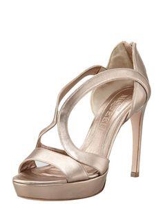 Wednesday, January 23rd: Alexander McQueen Metallic Leather Cutout Platform Sandal, Rose, 212 872 8947