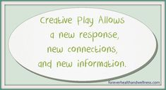 Using Creativity to Problem Solve Creative Play, New Perspective, Problem Solving, Need To Know, No Response, Finding Yourself, Stress, Wellness, Health