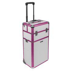 Pink-weißer Trolley, ideal für das Business