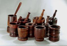 Old Mortar And Pestle | COLLECTION OF LIGNUM VITAE AND FRUITWOOD MORTAR & PESTLES England ...