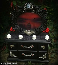 Gothic jewellery box by Curiology. We've been making custom boxes for 5 years… …