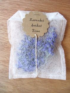 Take a used dryer sheet and recycle it into  a sachet.