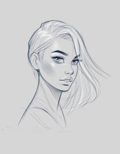 Artstation - female faces sketches, jan unolt illustration in 2019 girl dra Face Drawing Reference, Female Face Drawing, Girl Face Drawing, Girl Drawing Sketches, Face Sketch, Woman Drawing, Drawing Faces, Sketches Of Faces, Pose Reference