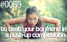 Or husband!!!! He just thinks my workouts are for nothin!! :)
