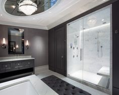 Shower Alcove.  Astor Street Residence Historic Renovation
