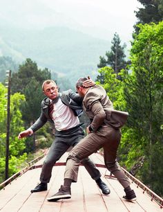 One of my all-time favorite fight stills: Dirty-boxing, in a suit...on a moving train...YES!! Haha