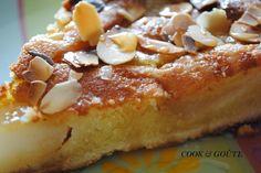 Tarte amandine aux poires caramélisées à la vanille