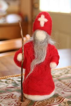 Winter ~ St. Nicholas ~ Needle Felted Wool More