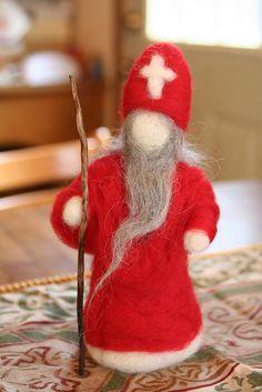 Winter ~ St. Nicholas ~ Needle Felted Wool