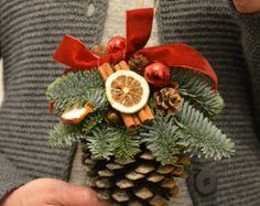 Große Kiefer Kegel frische Fichte Ornament von FlowerinasDecor