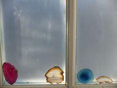 geode slices in window