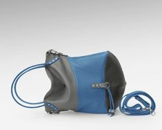 Leather hobo bag crossbody large sling zippered tote purse simple blue  black gray women s shoulder everyday handmade handbag slouchy 99b019cb8a3e4