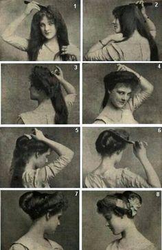 Edwardian hairdo