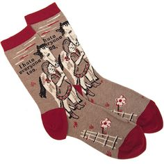 I HATE EVERYONE SOCKS. And they have a horse on them! I love them!