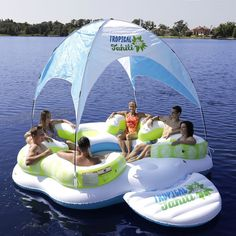 Details about XL Inflatable Island 6 Person Floating Raft Lake Lounge Canopy Cooler Pool Beach Ilha inflável XL 6 Pessoa Flutuante Raft Lake Lounge Canopy Cooler Pool Beach Floating Canopy, Floating Raft, Floating Lounge, Floating Shelves, Inflatable Floating Island, Inflatable Raft, Pool Toys For Adults, Party Raft, Lake Floats