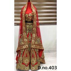 Exclusive Bridal Designer Lehenga ( D.No.403 )