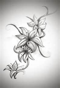 Black And White Stargazer Lily Tattoos.. Love this.. Need to cover up the tat currently on my back!