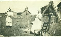 Making soap the old fashioned way!  Gotta love family history & old photos!