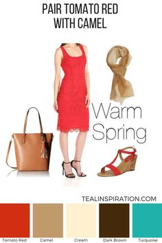 How to Wear Red if You're a Warm Spring