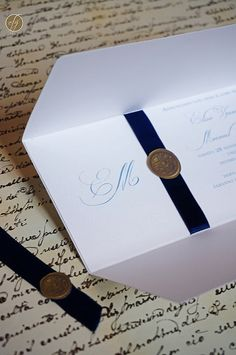 Vintage Wax Seal Wedding Invitation