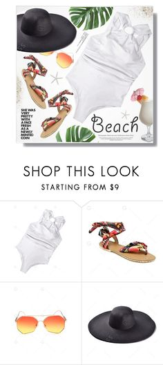 """""""Sun, beach, sand 💖"""" by yexyka ❤ liked on Polyvore featuring TIKI and Anja"""
