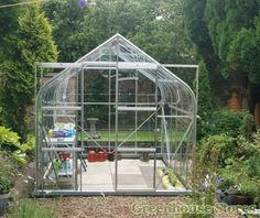 Vitavia Saturn Silver 8x12 Greenhouse - 3mm Horticultural Glazing http://www.greenhousestores.co.uk/Vitavia-Saturn-Silver-8x12-Greenhouse-3mm-Horticultural-Glazing.htm