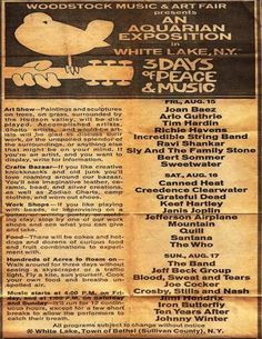A different more detailed Woodstock poster from the ones I usually see.