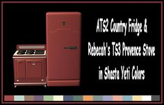 ATS2 Country Fridge & Rebecah's 3t2 Provence Stove in Yeti Colors